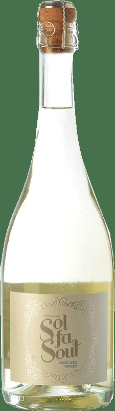 6,95 € Free Shipping | White sparkling Pelleriti Sol Fa Soul Espumante Sweet I.G. Valle de Uco Uco Valley Argentina Torrontés, Chardonnay Bottle 75 cl