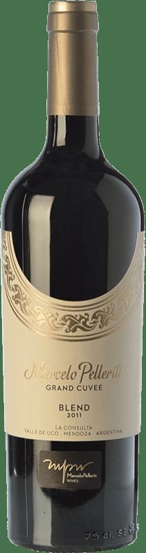 52,95 € Free Shipping | Red wine Pelleriti Grand Cuvée Blend Gran Reserva I.G. Valle de Uco Uco Valley Argentina Cabernet Franc, Malbec Bottle 75 cl