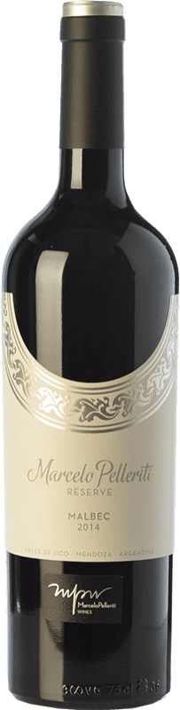 18,95 € Free Shipping | Red wine Pelleriti Reserve Reserva I.G. Valle de Uco Uco Valley Argentina Malbec Bottle 75 cl