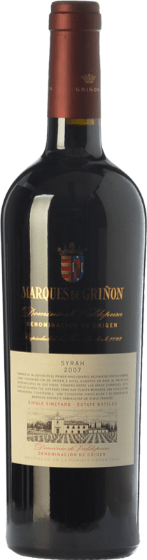 21,95 € Envío gratis | Vino tinto Marqués de Griñón Crianza D.O.P. Vino de Pago Dominio de Valdepusa Castilla la Mancha España Syrah Botella 75 cl