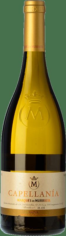 27,95 € Spedizione Gratuita | Vino bianco Marqués de Murrieta Capellanía Crianza D.O.Ca. Rioja La Rioja Spagna Viura Bottiglia 75 cl