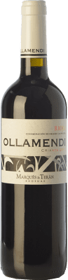 8,95 € Free Shipping | Red wine Marqués de Terán Ollamendi Crianza D.O.Ca. Rioja The Rioja Spain Tempranillo Bottle 75 cl
