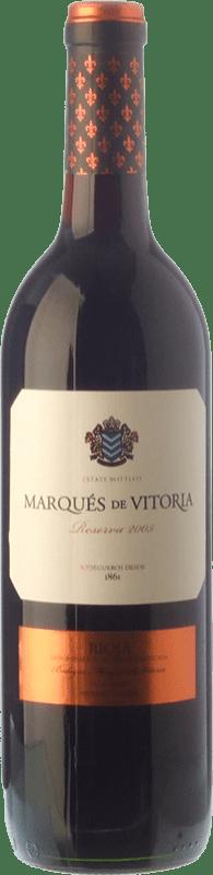 9,95 € Free Shipping | Red wine Marqués de Vitoria Reserva D.O.Ca. Rioja The Rioja Spain Tempranillo Bottle 75 cl