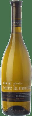 8,95 € Envío gratis | Vino blanco Marqués de Vizhoja Torre la Moreira D.O. Rías Baixas Galicia España Albariño Botella 75 cl