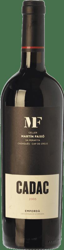 35,95 € Envío gratis | Vino tinto Martín Faixó MF Cadac Crianza D.O. Empordà Cataluña España Garnacha, Cabernet Sauvignon Botella 75 cl