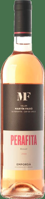 9,95 € Free Shipping | Rosé wine Martín Faixó MF Perafita Rosat D.O. Empordà Catalonia Spain Merlot, Grenache Bottle 75 cl