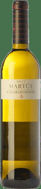 9,95 € Envío gratis | Vino blanco Martúe Crianza D.O.P. Vino de Pago Campo de la Guardia Castilla la Mancha España Chardonnay Botella 75 cl