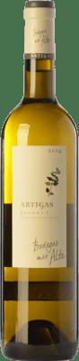 76,95 € Envío gratis | Vino blanco Mas Alta Artigas Blanc Crianza D.O.Ca. Priorat Cataluña España Garnacha Blanca, Macabeo, Pedro Ximénez Botella Mágnum 1,5 L