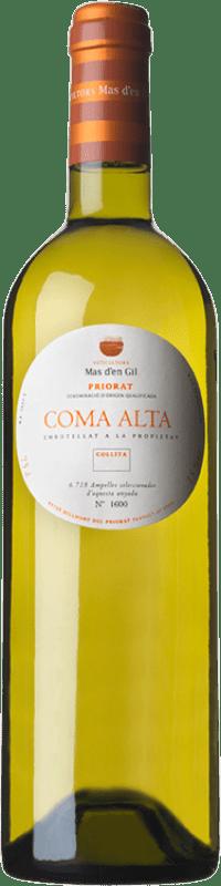 25,95 € Envío gratis | Vino blanco Mas d'en Gil Coma Alta Crianza D.O.Ca. Priorat Cataluña España Garnacha Blanca, Viognier Botella 75 cl