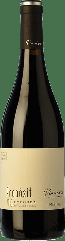 12,95 € Free Shipping | Red wine Viníric Propòsit Negre Crianza D.O. Empordà Catalonia Spain Merlot, Syrah, Cabernet Sauvignon Bottle 75 cl