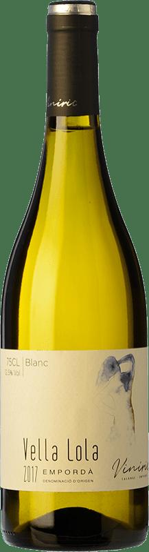 8,95 € Envío gratis | Vino blanco Viníric Vella Lola Blanc D.O. Empordà Cataluña España Garnacha Blanca, Moscatel, Macabeo, Xarel·lo Botella 75 cl