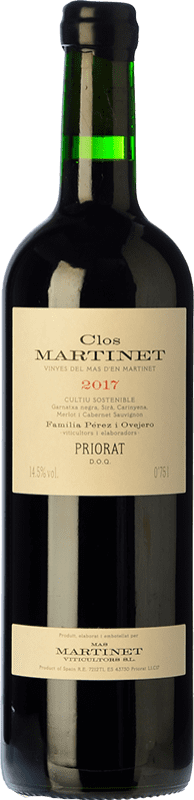 67,95 € Free Shipping | Red wine Mas Martinet Clos Crianza D.O.Ca. Priorat Catalonia Spain Merlot, Syrah, Grenache, Cabernet Sauvignon, Carignan Bottle 75 cl