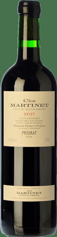 84,95 € Free Shipping | Red wine Mas Martinet Clos Crianza D.O.Ca. Priorat Catalonia Spain Merlot, Syrah, Grenache, Cabernet Sauvignon, Carignan Special Bottle 5 L