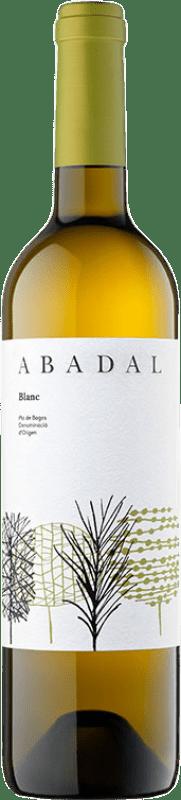 8,95 € Envío gratis | Vino blanco Masies d'Avinyó Abadal Blanc D.O. Pla de Bages Cataluña España Chardonnay, Sauvignon Blanca, Picapoll Botella 75 cl