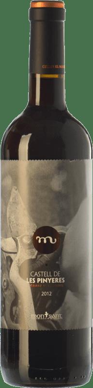 9,95 € Free Shipping | Red wine Masroig Castell de les Pinyeres Crianza D.O. Montsant Catalonia Spain Tempranillo, Merlot, Grenache, Cabernet Sauvignon, Samsó Bottle 75 cl
