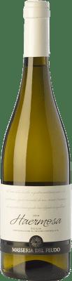 17,95 € Free Shipping | White wine Masseria del Feudo Haermosa I.G.T. Terre Siciliane Sicily Italy Chardonnay Bottle 75 cl