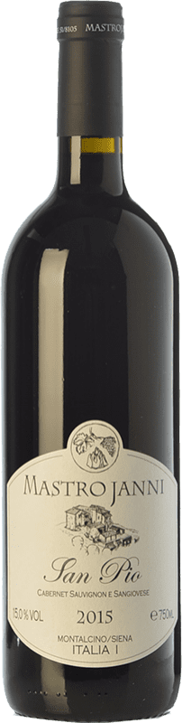 24,95 € Free Shipping | Red wine Mastrojanni San Pio I.G.T. Toscana Tuscany Italy Cabernet Sauvignon, Sangiovese Bottle 75 cl