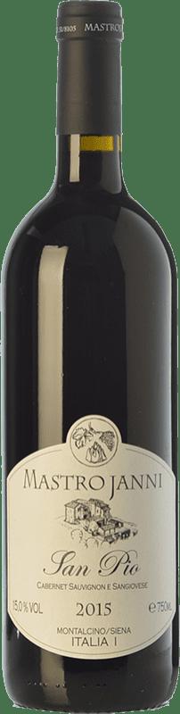 24,95 € Envío gratis | Vino tinto Mastrojanni San Pio I.G.T. Toscana Toscana Italia Cabernet Sauvignon, Sangiovese Botella 75 cl