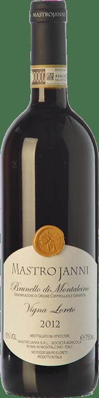 114,95 € Free Shipping | Red wine Mastrojanni Vigna Loreto D.O.C.G. Brunello di Montalcino Tuscany Italy Sangiovese Bottle 75 cl