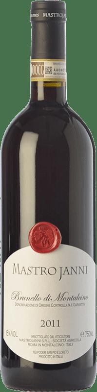 66,95 € Envío gratis | Vino tinto Mastrojanni D.O.C.G. Brunello di Montalcino Toscana Italia Sangiovese Botella 75 cl