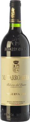 36,95 € Free Shipping | Red wine Matarromera Reserva D.O. Ribera del Duero Castilla y León Spain Tempranillo Bottle 75 cl | Thousands of wine lovers trust us to get the best price guarantee, free shipping always and hassle-free shopping and returns.