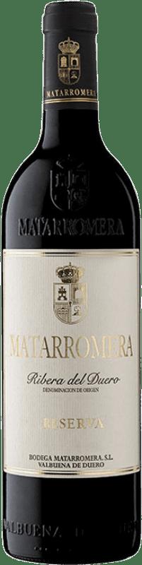 39,95 € Envoi gratuit | Vin rouge Matarromera Reserva D.O. Ribera del Duero Castille et Leon Espagne Tempranillo Bouteille 75 cl