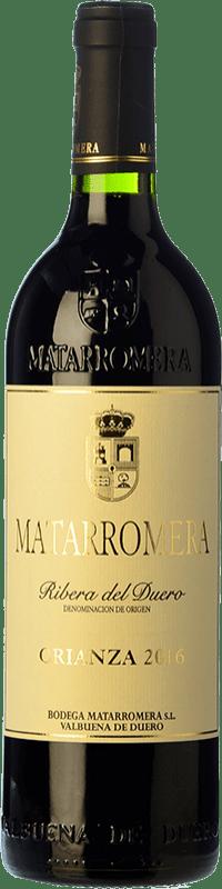 48,95 € Envío gratis | Vino tinto Matarromera Crianza D.O. Ribera del Duero Castilla y León España Tempranillo Botella Mágnum 1,5 L