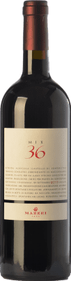 73,95 € Free Shipping | Red wine Mazzei Mix 36 I.G.T. Toscana Tuscany Italy Sangiovese Bottle 75 cl