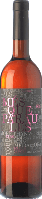9,95 € Free Shipping | Rosé wine Més Que Paraules Rosat D.O. Pla de Bages Catalonia Spain Merlot, Sumoll Bottle 75 cl