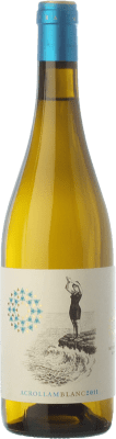 13,95 € Free Shipping | White wine Mesquida Mora Acrollam Blanc D.O. Pla i Llevant Balearic Islands Spain Chardonnay, Parellada, Premsal Bottle 75 cl