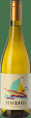 11,95 € Free Shipping | White wine Mesquida Mora Sincronia Blanc I.G.P. Vi de la Terra de Mallorca Balearic Islands Spain Chardonnay, Parellada, Premsal Bottle 75 cl