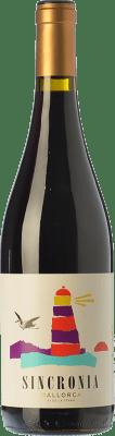 11,95 € Free Shipping | Red wine Mesquida Mora Sincronia Negre Joven I.G.P. Vi de la Terra de Mallorca Balearic Islands Spain Merlot, Syrah, Callet, Mantonegro Bottle 75 cl