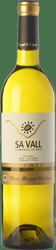 19,95 € Free Shipping | White wine Miquel Gelabert Sa Vall Selecció Privada Crianza D.O. Pla i Llevant Balearic Islands Spain Viognier, Giró White Bottle 75 cl