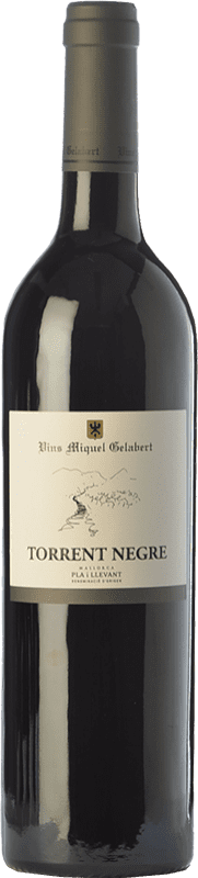 14,95 € Free Shipping | Red wine Miquel Gelabert Torrent Negre Crianza D.O. Pla i Llevant Balearic Islands Spain Merlot, Syrah, Cabernet Sauvignon Bottle 75 cl