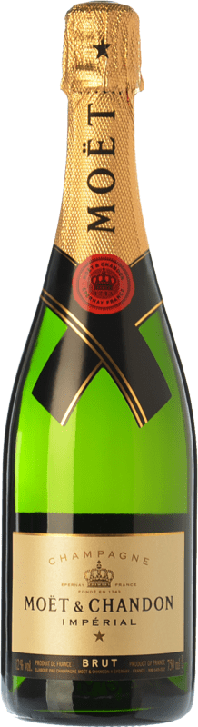 376,95 € Free Shipping | White sparkling Moët & Chandon Impérial Brut Reserva A.O.C. Champagne Champagne France Pinot Black, Chardonnay, Pinot Meunier Jeroboam Bottle-Double Magnum 3 L