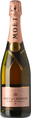 99,95 € Free Shipping | Rosé sparkling Moët & Chandon Rosé Impérial Reserva A.O.C. Champagne Champagne France Chardonnay, Pinot Meunier Magnum Bottle 1,5 L. | Thousands of wine lovers trust us to get the best price guarantee, free shipping always and hassle-free shopping and returns.