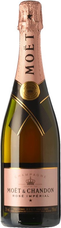 107,95 € Free Shipping | Rosé sparkling Moët & Chandon Rosé Impérial Reserva A.O.C. Champagne Champagne France Chardonnay, Pinot Meunier Magnum Bottle 1,5 L