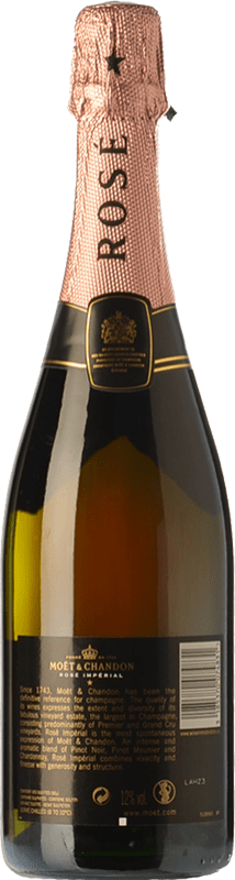 99,95 € Free Shipping | Rosé sparkling Moët & Chandon Rosé Impérial Reserva A.O.C. Champagne Champagne France Chardonnay, Pinot Meunier Magnum Bottle 1,5 L | Thousands of wine lovers trust us to get the best price guarantee, free shipping always and hassle-free shopping and returns.