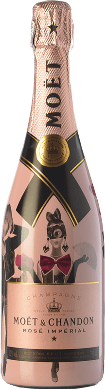 49,95 € Free Shipping | Rosé sparkling Moët & Chandon Rosé Impérial Unconventional Love A.O.C. Champagne Champagne France Pinot Black, Chardonnay, Pinot Meunier Bottle 75 cl