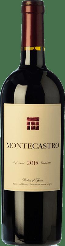21,95 € Free Shipping | Red wine Montecastro Crianza D.O. Ribera del Duero Castilla y León Spain Tempranillo, Merlot Bottle 75 cl