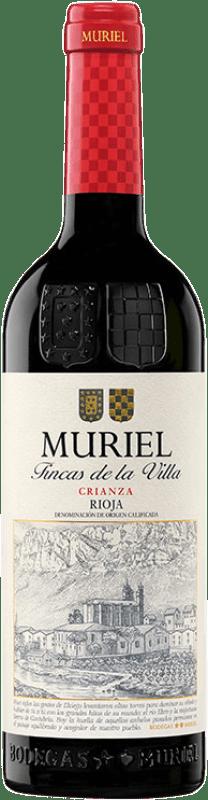 7,95 € Free Shipping | Red wine Muriel Fincas de la Villa Crianza D.O.Ca. Rioja The Rioja Spain Tempranillo Bottle 75 cl