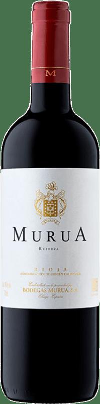 12,95 € Free Shipping | Red wine Murua Reserva D.O.Ca. Rioja The Rioja Spain Tempranillo, Graciano, Mazuelo Bottle 75 cl