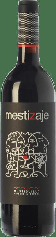 8,95 € Free Shipping | Red wine Mustiguillo Mestizaje Joven D.O.P. Vino de Pago El Terrerazo Valencian Community Spain Tempranillo, Merlot, Grenache, Cabernet Sauvignon, Bobal Bottle 75 cl