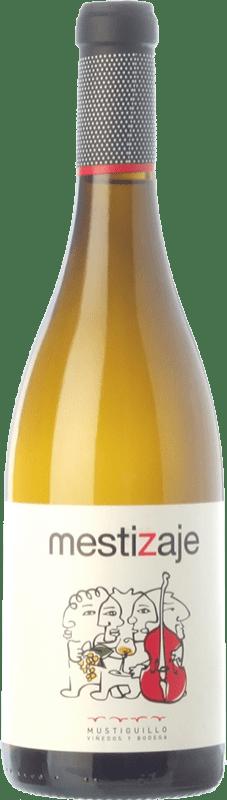 8,95 € Free Shipping | White wine Mustiguillo Mestizaje D.O.P. Vino de Pago El Terrerazo Valencian Community Spain Malvasía, Viognier, Merseguera Bottle 75 cl