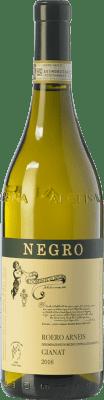 28,95 € Free Shipping | White wine Negro Angelo Gianat D.O.C.G. Roero Piemonte Italy Arneis Bottle 75 cl
