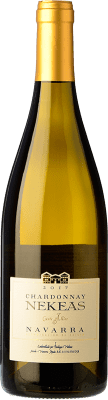 12,95 € Envío gratis | Vino blanco Nekeas Cuvée Allier Crianza D.O. Navarra Navarra España Chardonnay Botella 75 cl