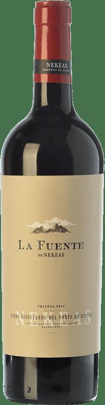 6,95 € Free Shipping | Red wine Nekeas La Fuente Crianza D.O. Navarra Navarre Spain Tempranillo, Merlot, Cabernet Sauvignon Bottle 75 cl