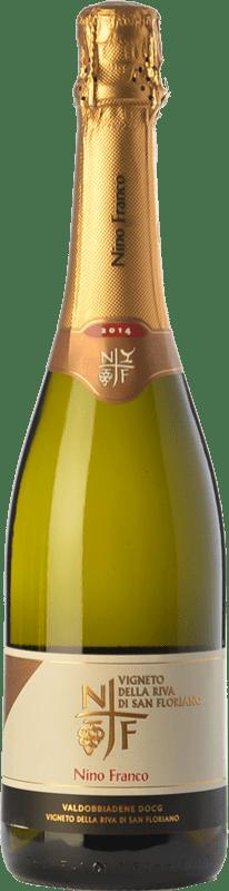 19,95 € Free Shipping | White sparkling Nino Franco Riva di San Floriano D.O.C.G. Prosecco di Conegliano-Valdobbiadene Treviso Italy Glera Bottle 75 cl