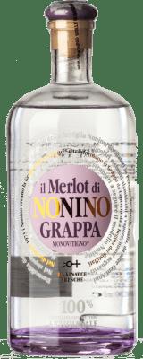 25,95 € Free Shipping | Grappa Nonino Il Merlot I.G.T. Grappa Friulana Friuli-Venezia Giulia Italy Bottle 70 cl