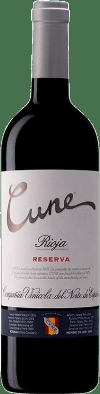 29,95 € Free Shipping | Red wine Norte de España - CVNE Cune Reserva D.O.Ca. Rioja The Rioja Spain Tempranillo, Grenache, Graciano, Mazuelo Magnum Bottle 1,5 L